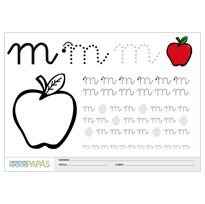 Plantillas escritura letras minúsculas m France, Kids Education, Thats Not My, Preschool, Arabic Calligraphy, Reading, Montessori, Gingerbread, English