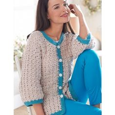 Crochet this Free Cluster Stitch Cardigan Pattern