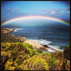A gorgeous rainbow captured on the road to Hermanus from Gordon's Bay by Melanie Slade. BelAfrique your personal travel planner - www.BelAfrique.com