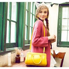Sleek Boston Candy Color PU Leather #Shoulder Bag for Women Free Shipping