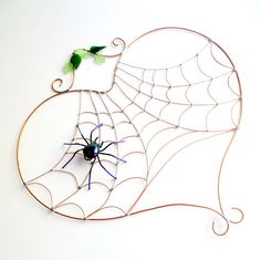 Hey, I found this really awesome Etsy listing at https://www.etsy.com/listing/78725782/large-heart-spider-web-with-purple