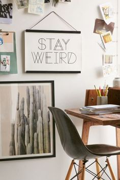Live Love Studio Stay Weird Art Print II Urban Outfitters