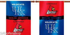"Kentucky Wildcats Louisville Cardinals 28"" x 40"" Two Sided House Divided Banner"