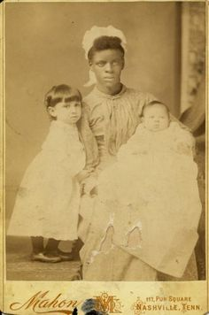 Awesome African American Southern Nanny with White Children from Nashville Tenn | eBay