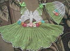 butterfly dress crochet - I would put a coordinating t-shirt under this but how adorable