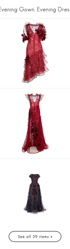"""Evening Gown. Evening Dress"" by lorika-borika on Polyvore featuring dresses, rodarte, lace cocktail dresses, v neck dress, lace applique dress, red v neck dress, red sheath dress, gowns, long dress и red evening gowns"