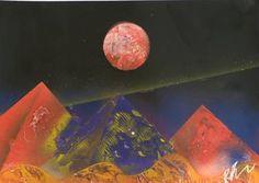 RED MOON OVER 3 KINGS King Painting, Red Moon, Saatchi Art, Original Paintings, Wall, Blood Moon, Walls