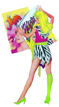 """Pizzazz from """"Jem And The Holograms"""" series."""
