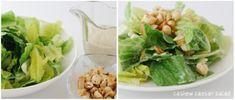 cashew caesar sald with cashew croutons #vegan