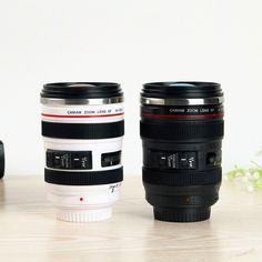 Camera Lens Vacuum Flask Travel Mug