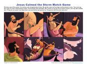 Jesus Calmed the Storm Bible Matching Game for Kids