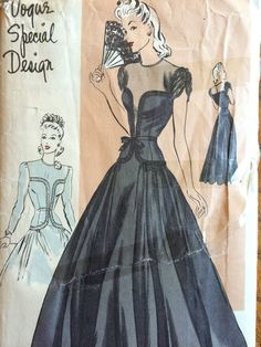 Vintage Original Vogue Special Design S-4270 Unprinted Dress Pattern 32 Bust