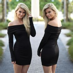 Everyone needs a little black dress! You will look incredible in this stunning Black Off Shoulder Short Dress. We love this classic little black dress with a twist! Sassy and adorable, you can't go wrong with this  off shoulder cutie. See other cute dresses at our online dress shop!