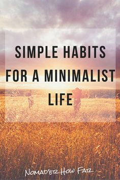 Minimalism can be a varied and big process leading to big change. But it can also be a simpler process with smaller steps along the way...