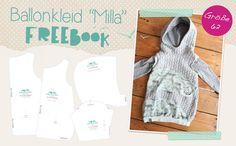 Ballonkleid Milla als Freebook, Frühlingskleid von Lybstes umsonst nähen, kostenloses Schnittmuster