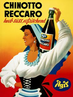 Agis Chinotto Reccaro   http://www.vintagevenus.com.au/collections/drinks/products/vintage_poster_print-d296