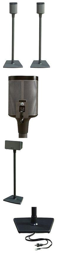 speaker mounts and stands sanus wireless speaker stand for sonos play 1 and play 3 - Sanus Speaker Stands