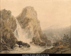 A Waterfall - Joseph Mallord William Turner - www.william-turner.org