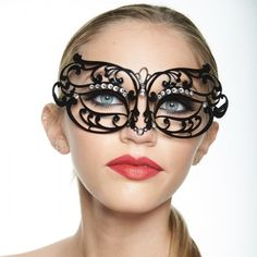 Brilliant Laser Cut Mardi Gras Masquerade Mask -Made with eco-friendly metal material. -Laser Cut -Beautiful Rhinestones design.  -One size fits most. -Perfect for masquerade balls, weddings, proms, parties, dances, music festivals, raves, Mardi Gras, etc. BB007 Jewelry