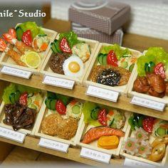 ミニチュアお弁当。 #ミニチュア#ミニチュアフード#ミニチュア雑貨#ハンドメイド#手作り#フェイク#フェイクフード#雑貨#スマイル#粘土#お弁当#Miniature#Miniaturefood#Dollhouse #smile#Handmade#Fake#Fakefood#Clay#Lunch box