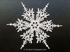 Heklað snjókorn # 3 - íslensk þýðing - San Rafael Swell Snowflake