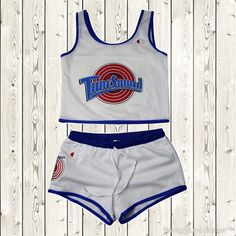 UltimateSportsHouse Fast Shipping Fast packing Fast delivery Trusted Seller Best price online Best Return policy PayPal Secure easy and safe payments Space Jam Tune Squad Ladies Set Girls Jersey and Shorts Stitched Retro White Detail...