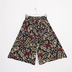 #Vintage #80s #90s #TRIBAL print HIGH WAIST WIDE LEG #PALAZZO #CROP #GAUCHO #CULOTTES pant M #TribalPrint #HighWaist #HighWaisted #WideLeg #PalazzoPants #Pants #GauchoPants #Ethnic #Festival #Ebay #TrashyVintage $38.00
