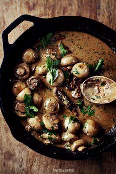 Sirloin, mushrooms and pepper