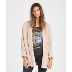 Billabong Women's Tripped Up Cardigan ($70) ❤ liked on Polyvore featuring tops, cardigans, moonlight, sweaters, billabong, over sized cardigan, cotton cardigan, cotton open front cardigan and cotton shawl collar cardigan
