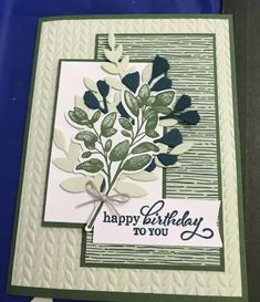 Hand Made Greeting Cards, Making Greeting Cards, Homemade Birthday Cards, Homemade Cards, Leaf Cards, Fabric Cards, Birthday Cards For Women, Scrapbook Cards, Scrapbooking