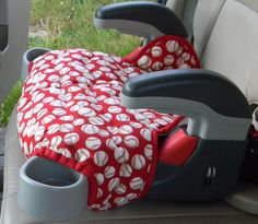 Baseball  LIMITED EDITION  Graco Turbo booster seat cover padded and in colors and designs to delight by berniea64 on Etsy