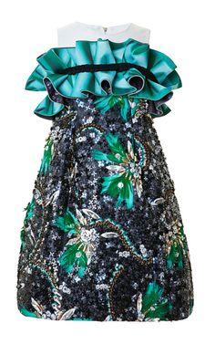 Roush Diaz Ruffles Dress by Mary Katrantzou for Preorder on Moda Operandi