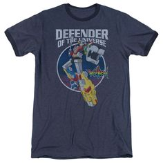 Voltron - Defender Adult Ringer T- Shirt