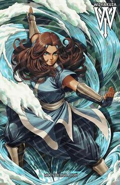 Avatar Book, Avatar Fan Art, Team Avatar, Cartoon Crossovers, Cartoon Movies, Cartoon Art, Avatar Poster, Avatar Kyoshi, Avatar Characters