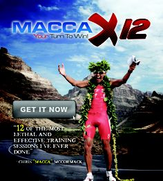 http://www.GetMaccaX12.com workouts...killer triathlon training routines from a world champion!