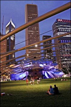 Pritzker Pavilion, Millennium Park, Chicago | by Ajit Chouhan, via Flickr
