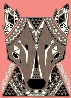 Because I believe my Spirit animal is a wolf….I love this print!  Wolf King Print | Little Paper Planes by Hillary Bird
