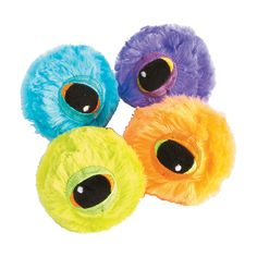 Kids love these funny, fuzzy bouncing balls! You'll see - they're better than sugary Halloween candy any day. Trick-or-treaters are thrilled when you . Halloween Favors, Halloween Toys, Halloween Candy, Halloween Night, Scary Halloween, Teal Pumpkin Project, Graffiti Characters, Novelty Toys, Trunk Or Treat