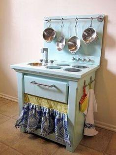 Homemade play kitchen!