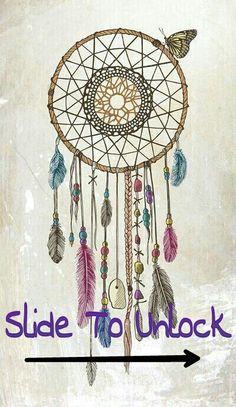 ♡♥♡ #Dreamcatcher #Wallpaper #Colours #SlideToUnlock #iPhone #Cute