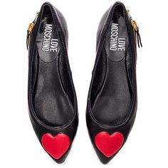 4cde94c19b6 Love Moschino Heart Flat Types Of Shoes