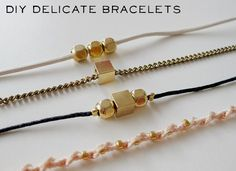 Gold Bead Bracelets | 39 DIY Gifts You'd Actually Want ToReceive
