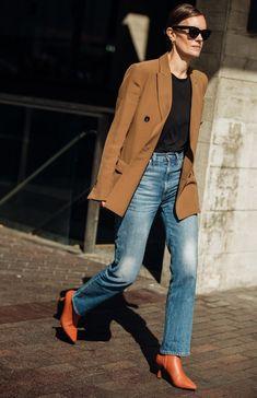 8425ae59a5c0d kahverengi blazer ceket modelleri 2019 Londra Modası, Ofis Modası, Denim  Fashion, Sıcak Giysiler