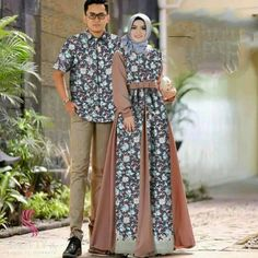 Screenshot Batik Muslim, Kebaya Muslim, Batik Kebaya, Batik Dress, Muslim Fashion, Hijab Fashion, Dress Batik Kombinasi, Couples Modeling, Hijab Trends