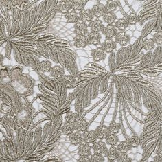 Exquisite Gold Floral Couture Guipure Lace Fabric Fabric by the Yard | Mood Fabrics