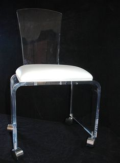#Lucite #Naples #florida #customer #Onestopplasticshop #Custom #acrylic  #Plasticfabrication #signs #clear #Deskchair #chair ...