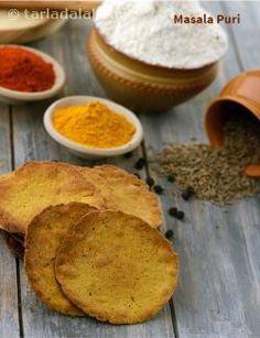 Masala Puri, Masala Puri For Chaat Recipes, Baked Masala Puri Vegetarian Cooking, Healthy Cooking, Masala Puri, Puri Recipes, Chaat Recipe, Low Calorie Recipes, Easy Snacks, Baked Goods, Baking Recipes