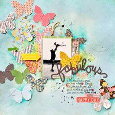 FABULOUS FLIER scrapbook layout by Missy Whidden
