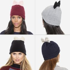 Rank & Style - Kate Spade New York Colorblock Bow Beanie #rankandstyle
