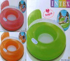 İntex Şeker Renkli Sırtlıklı Tutamaklı Can Simiti 56512
